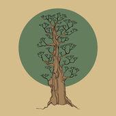 Tree, vector illustration — Stock Vector