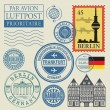 Travel stamps set — Stock Vector #65147031