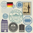 Travel stamps set — Stock Vector #65147065