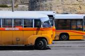 Legendary and iconic Malta public buses — Stock Photo