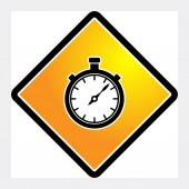 Stopwatch sign — Stock Vector