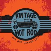 Retro Hot Rod poster — Stock Vector