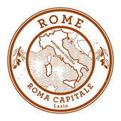 Grunge rubber stamp with words Rome, Italy inside — Vector de stock