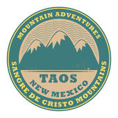 Stamp or label with text Taos, New Mexico, USA — Stock Vector