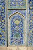 Geometric pattern of the Jameh Mosque of Isfahan, Iran — Photo