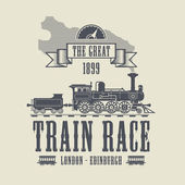 Train Race abstract — Stock Vector