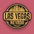 Stamp or label with name of Las Vegas, Nevada — Stock Vector #75796403