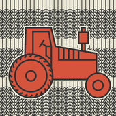 Tractor icon or sign, vector — Stock Vector