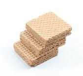 Pile of chocolate wafers — Zdjęcie stockowe