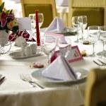 Elegant table arranged for event — Stock Photo #71036835