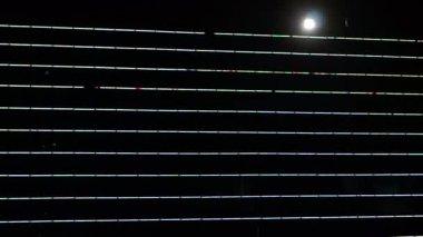 Neon lights and the city landscape lighting — 图库视频影像