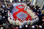 Muslims gathered in mosques — Stock Photo