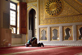 Dzieci modlitwy w meczecie — Zdjęcie stockowe