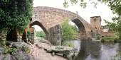 Medieval bridge of Ucanha, North Portugal — Stock Photo