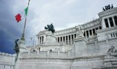 Beautiful view of Piazza Venezia, Rome — Stock Photo