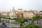 Beautiful view of Roman Empire ruins, Rome — Stock Photo