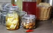 соединение самодельной консервированной восхитительной еды — Стоковое фото