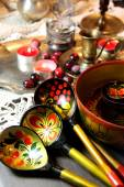 Mix of traditional Russian Souvenirs   — Stock Photo