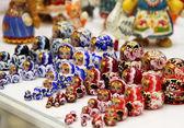 Mix of Russian Babushkas — Stock Photo