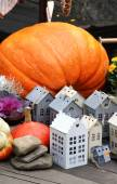 Halloween decorations with pumpkin — Stock Photo