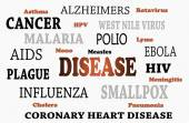 List Of Human Diseases — Stock Photo