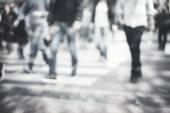 Pedestrian on zebra in motion blur — 图库照片