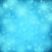 Blue Christmas background with snowflakes — Stockfoto