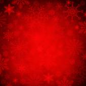 red shiny Christmas background with snowflakes  — Foto Stock