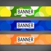 Multicolor Banner — Stock Vector