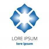 Blaue abstrakte Runde logo — Stockvektor