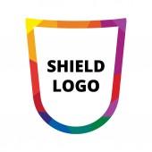 Shield vector logo — Stock Vector