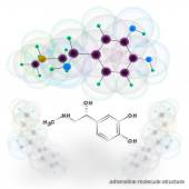 Adrenalin molecule structure — Stock Photo