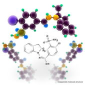 Indapamide molecule structure — Stock Photo