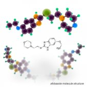 Afobazole (Fabomotizole) antidepressant drug molecule structure — Stock Photo