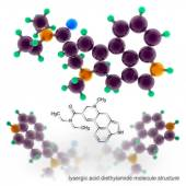 Lysergic Acid Diethylamide molecule structure — Stock Photo