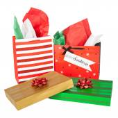 Christmas Boxes and Bags — Stock Photo