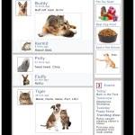Pets Social Media Tablet — Stock Photo #66838185