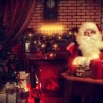 Worker santa — Stock Photo
