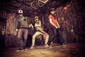Dancing hip-hop — Stock Photo