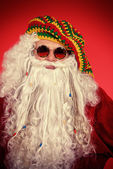 Hippie Santa — Stock Photo