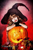 Pumpkin kid — Stock Photo