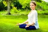 Lotus meditation — Stock Photo