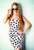 Polka-dot dress — Stock Photo