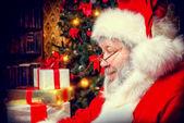 Santa in profile — Stock Photo