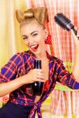 Comb and hair dryer — Stock Photo