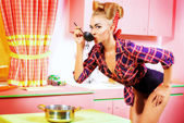 Cook pin-up — Stock Photo