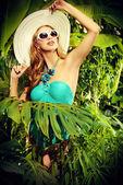 леди в тропиках — Стоковое фото
