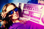 Rap woman — Foto de Stock