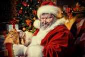 Kind santa — Stock Photo