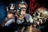 Científico loco — Foto de Stock
